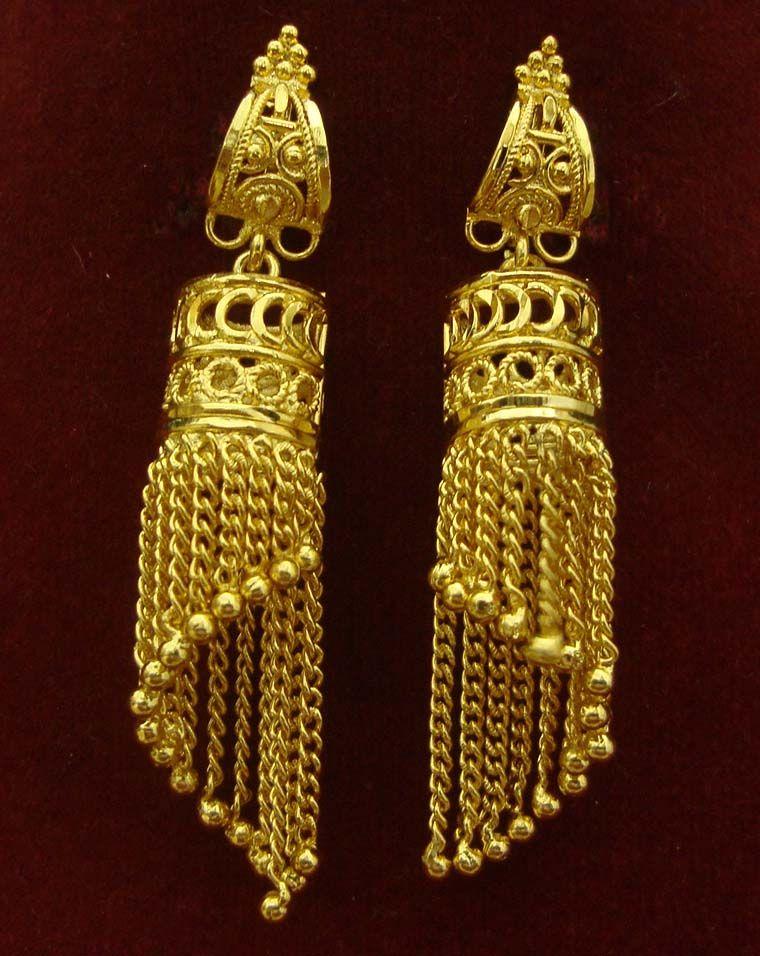 GOLD JHUMKA EARRINGS Gold earrings for women, Jewelry