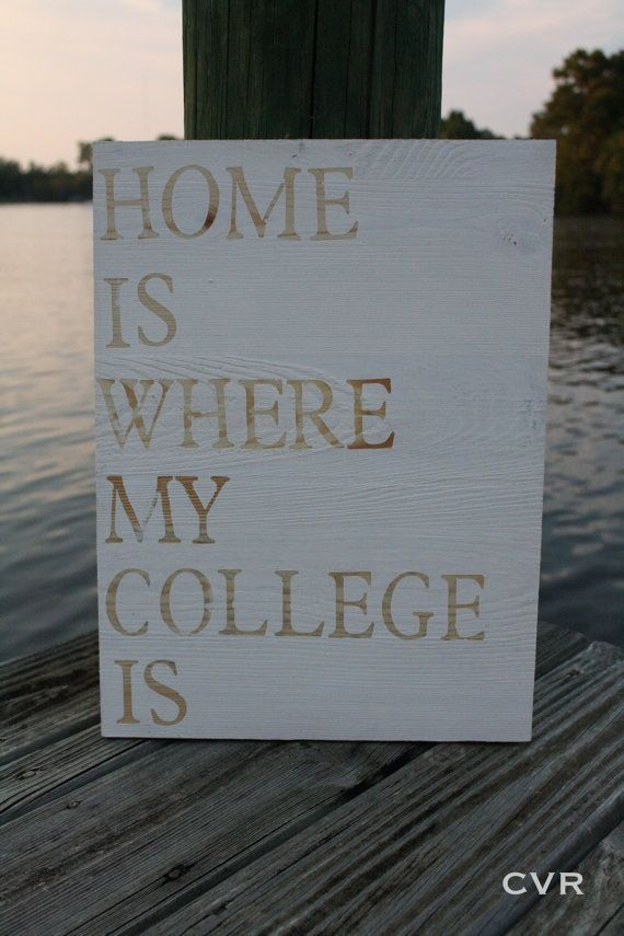 Home is Where My College Is by @ChevvyandRons on Etsy, $40.00 #college #decor