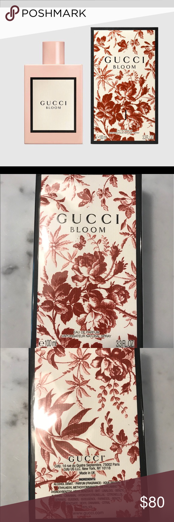 3 3 Oz 100ml Gucci Bloom Eau De Parfum New In Box Unique Flowers Gucci Gucci Makeup