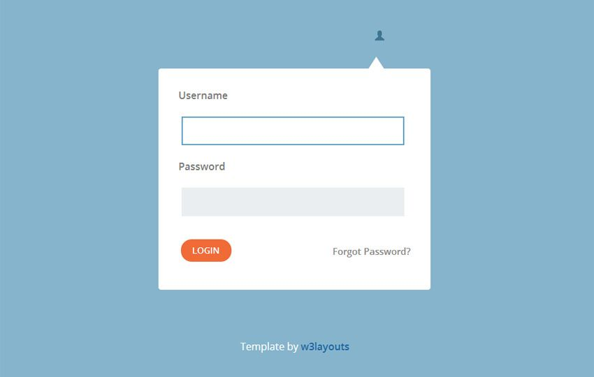 Login #Popup #Flat #Form sablon    w3layouts preview ?l - free sign up template