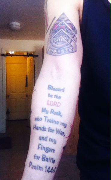 Psalm 144 Tattoo : psalm, tattoo, Psalm, 144:1, Warrior, Ready, Battle, Tattoo., Tattoos,, Psalms,