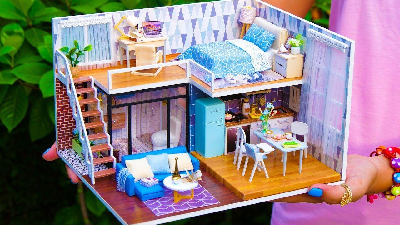 5 Diy Miniature Doll House Rooms 3 Youtube Diy Dollhouse