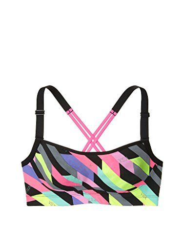 c388426de67a6 Victorias Secret VSX Angel Sports Bra Adjustable Strap Reflective Lines 32DD  -- Learn more by visiting the image link.(This is an Amazon affiliate link  and ...