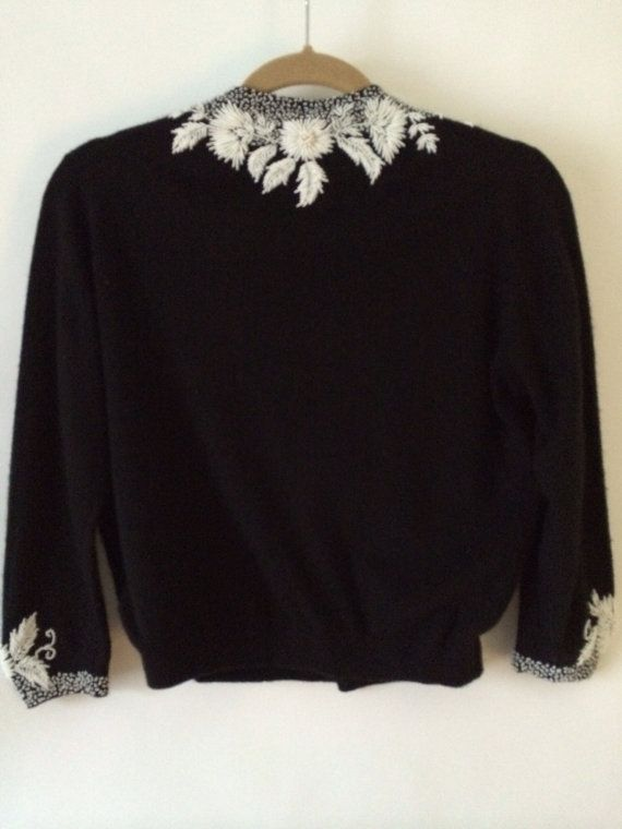 Vintage Hand Beaded Bonnie Wong Cardigan by HuronValleyVintage