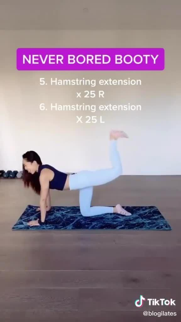 Never Bored Booty! Booty exercises for your best b