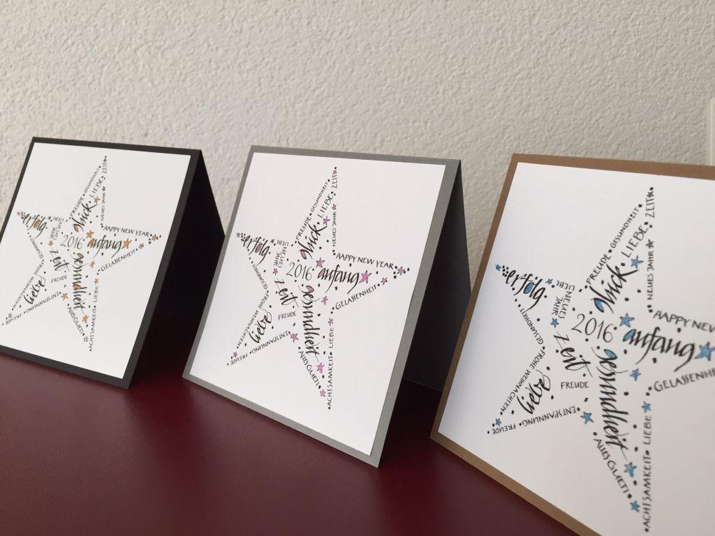 Weihnachtskarten  kalligraphie kartentraum