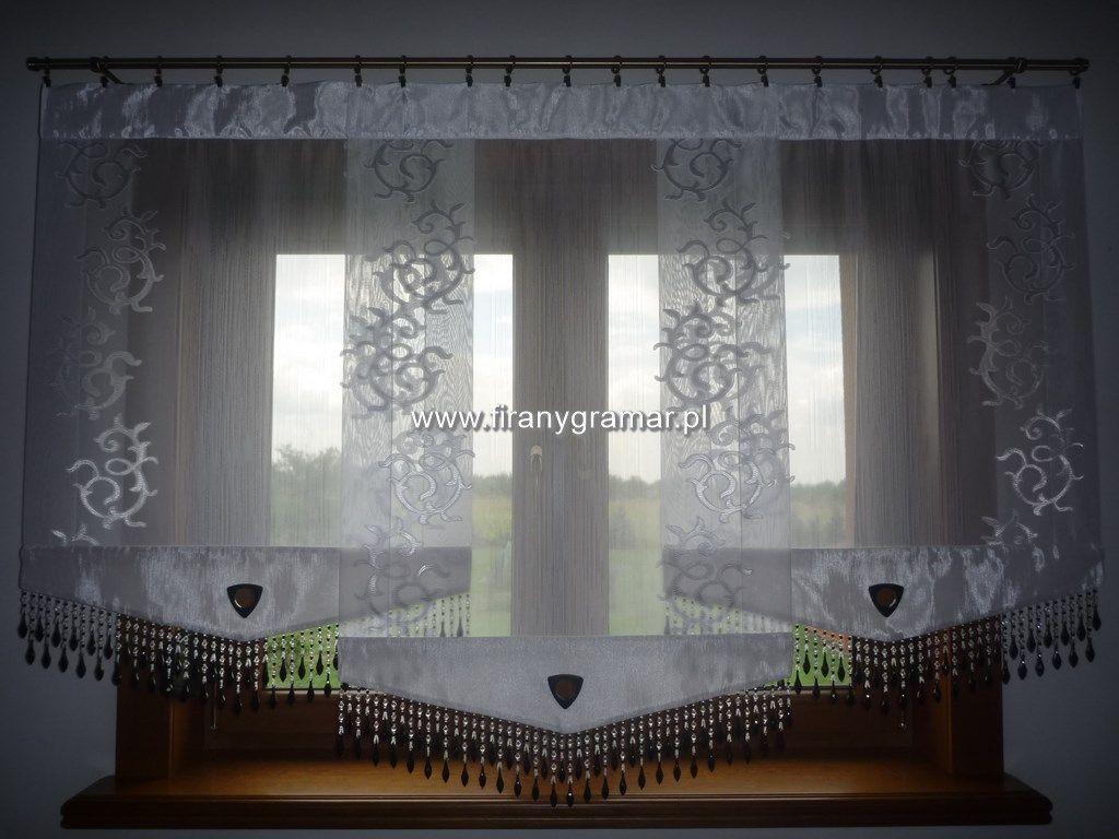 Firany Do Salonu Komplet Białych Paneli Z Woalu Lub Organzy