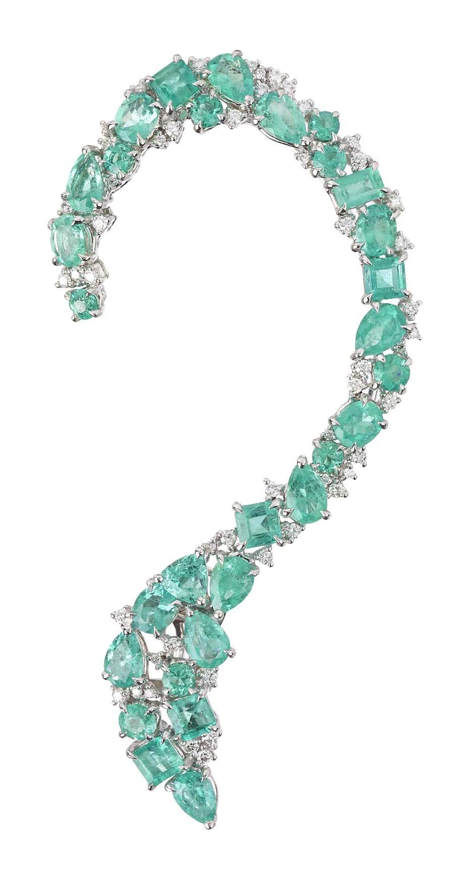 Gaydamak Emerald Ring and Cuff Bracelet t2Nu5Pd