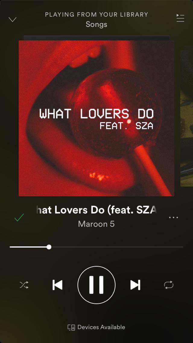 What lovers do-maroon five insta@carolyn_blank   Music in