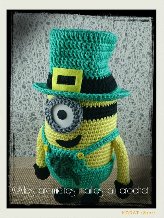 Minion St Patrick\'s day - Mes premières mailles au crochet ...