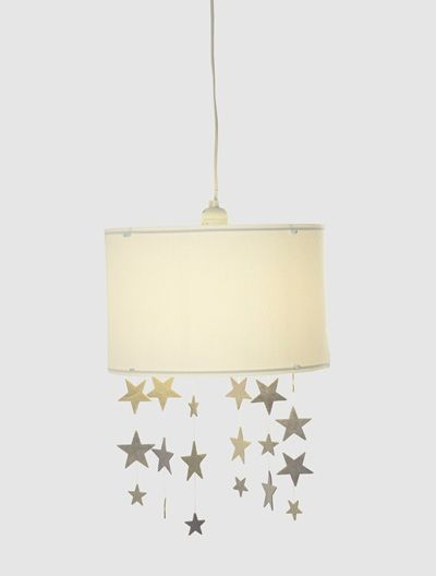 Abat-jour étoiles à suspendre Pluie d\'étoiles - blanc/gris | Chambre ...