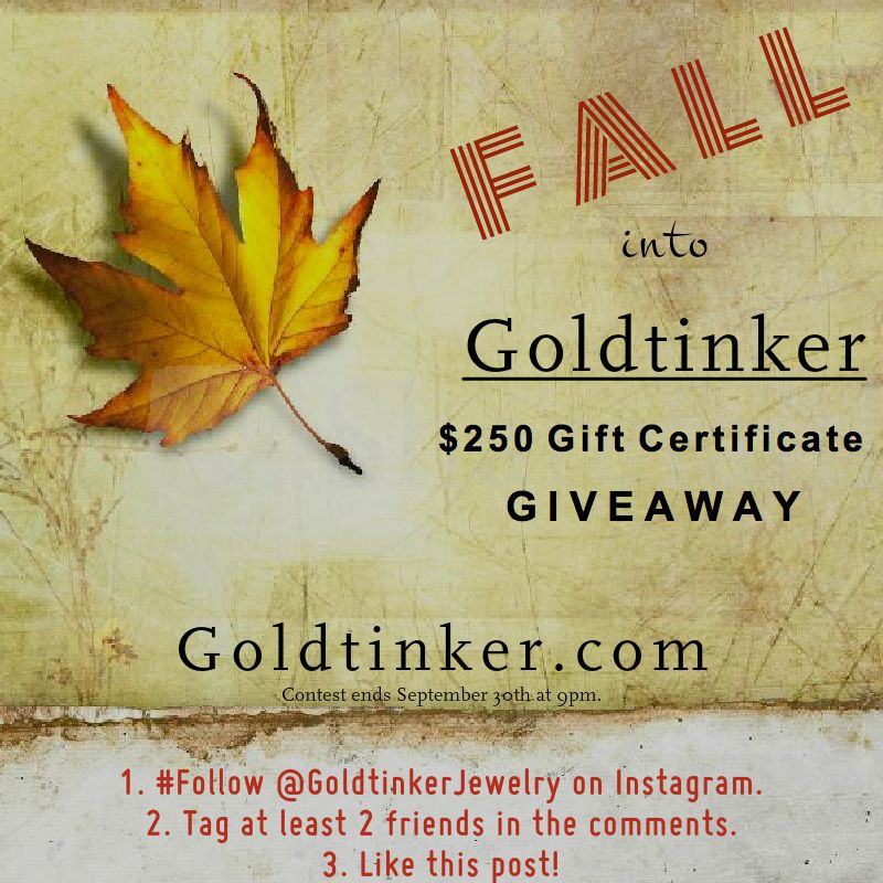 #InstagramContest in full effect! Follow @GoldtinkerJewelry on #Instagram NOW! Contest ends September 30th at 9pm.  #RedBank #NewJersey #NJ #Jeweler #Jewelers #JewelryDesign #Contest #Giveaway #handcrafted