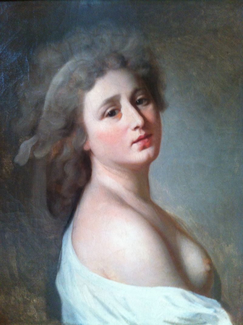 artist s french school late th century portrait of a w artist s french school late 18th century portrait of a w three quarter length bare breasts art pre 1850 french school