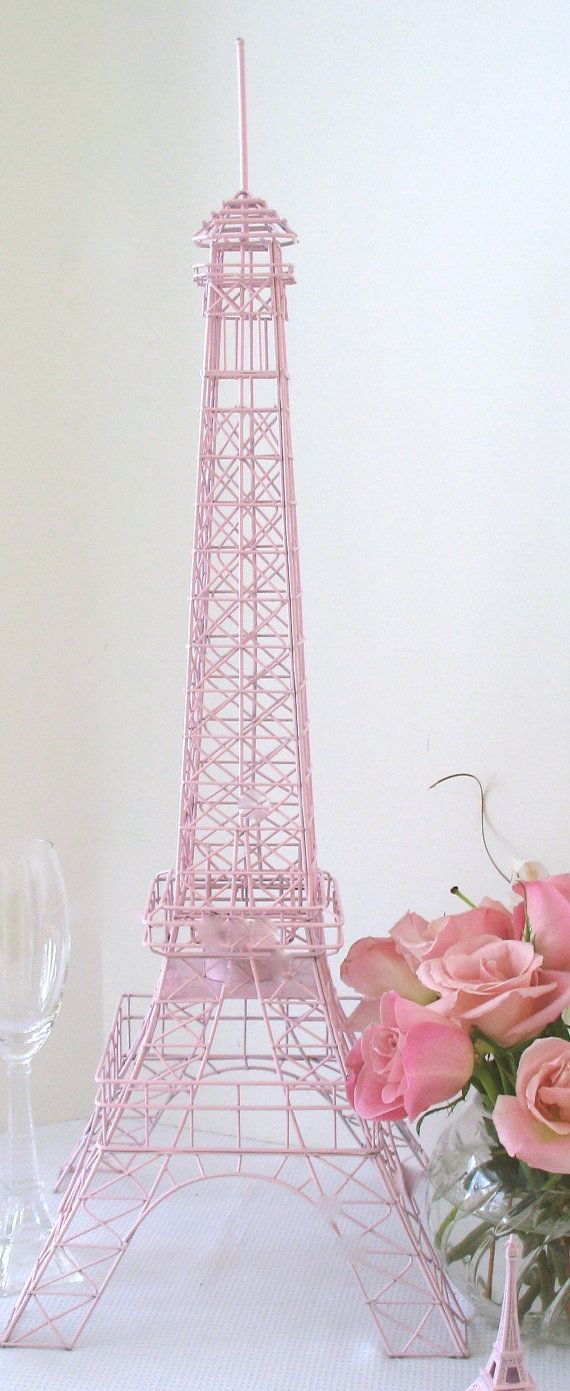 Eiffel Tower Light Pink Large 28 Inch Wire Metal Centerpiece/Replica ...