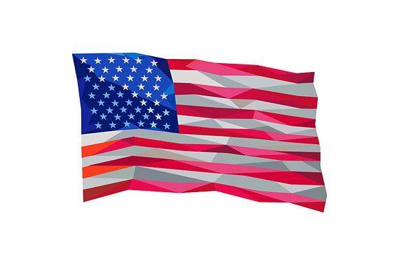 Usa Flag Stars And Stripes Low Polyg Usa Flag Flag American Flag Stars