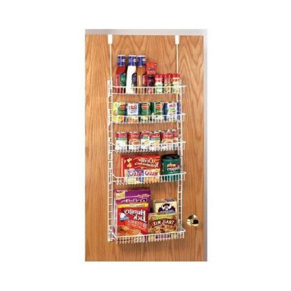 Over The Door Spice Rack Shelf Can Organizer Wire Hanging Pantry Food  Basketu2026