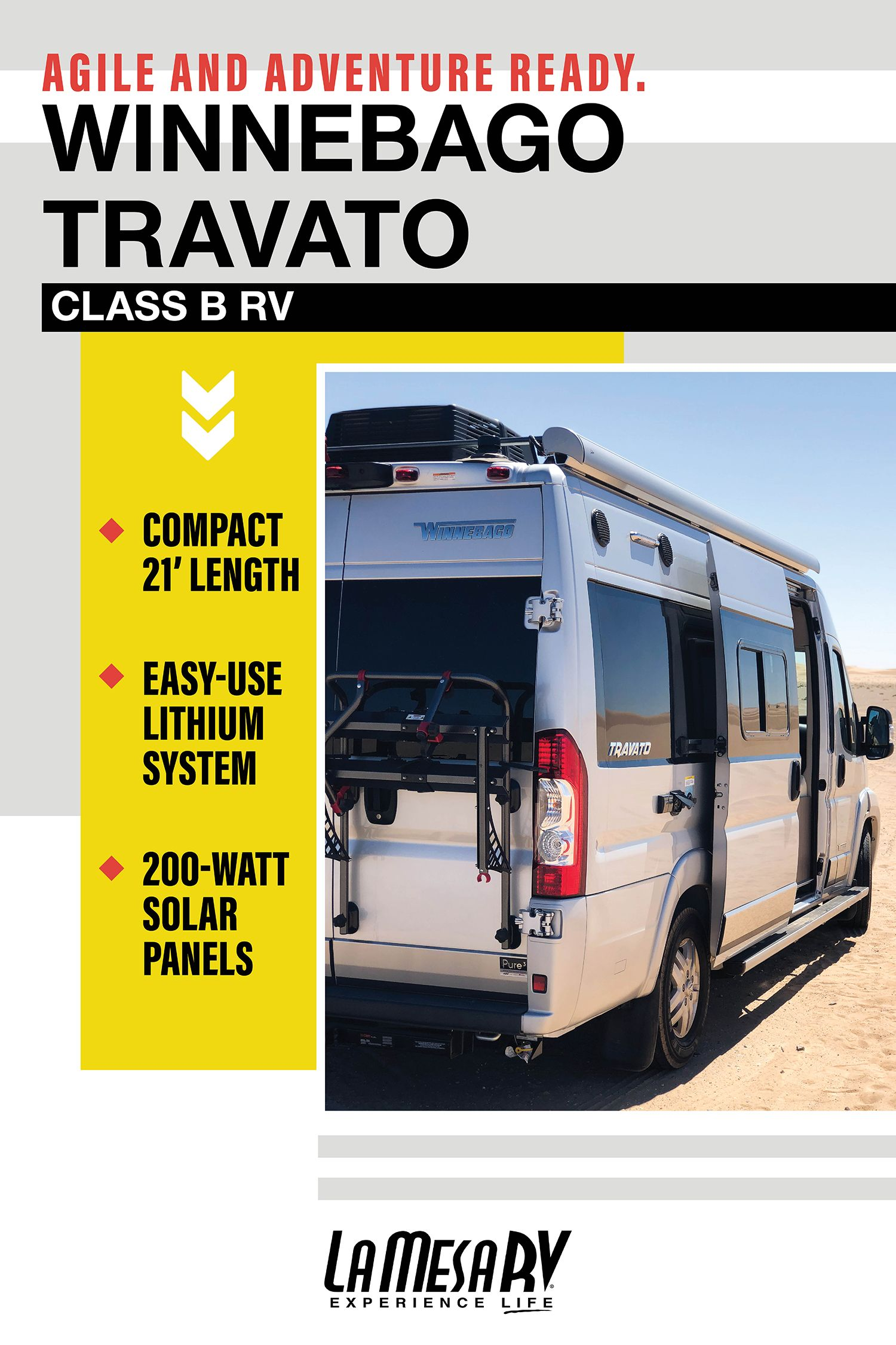 Looking For An Agile And Adventure Ready Rv To Take You To Your Travelgoals Meet The Travato By Winnebago With Images Rv Exterior Winnebago Rvs For Sale