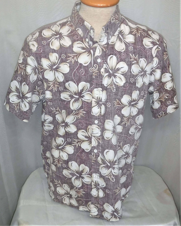 6a15ade6 Vintage Makapuu Sportswear Hawaii Hawaiian Reverse Print Men's Large Medium Shirt  Aloha Hibiscus by ShonnasVintage on Etsy