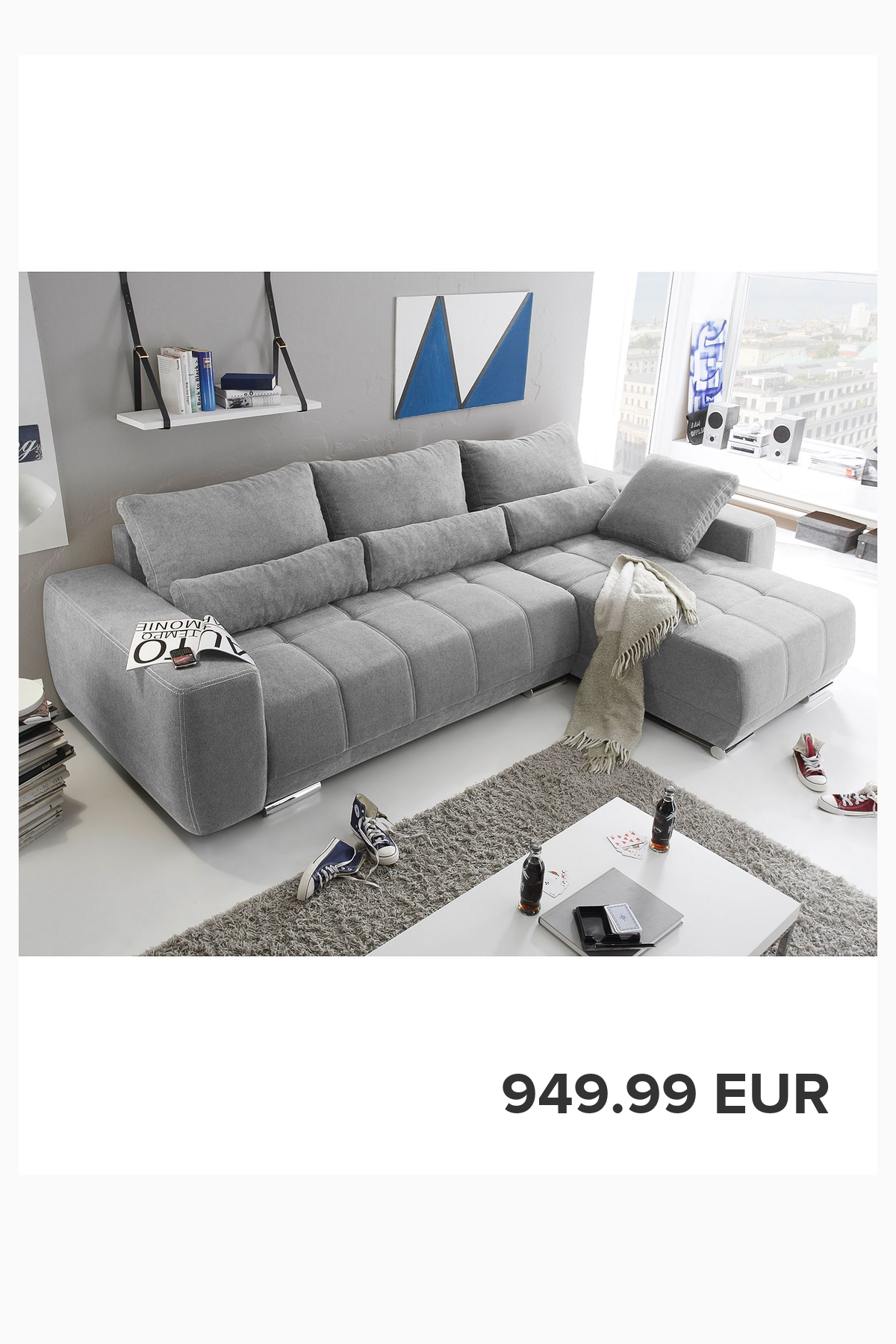 Fredriks Ecksofa Galilea Granit Microfaser 305x90x189 Cm Mit Schlaffunktion Living Room Designs Ikea Living Room Home Decor