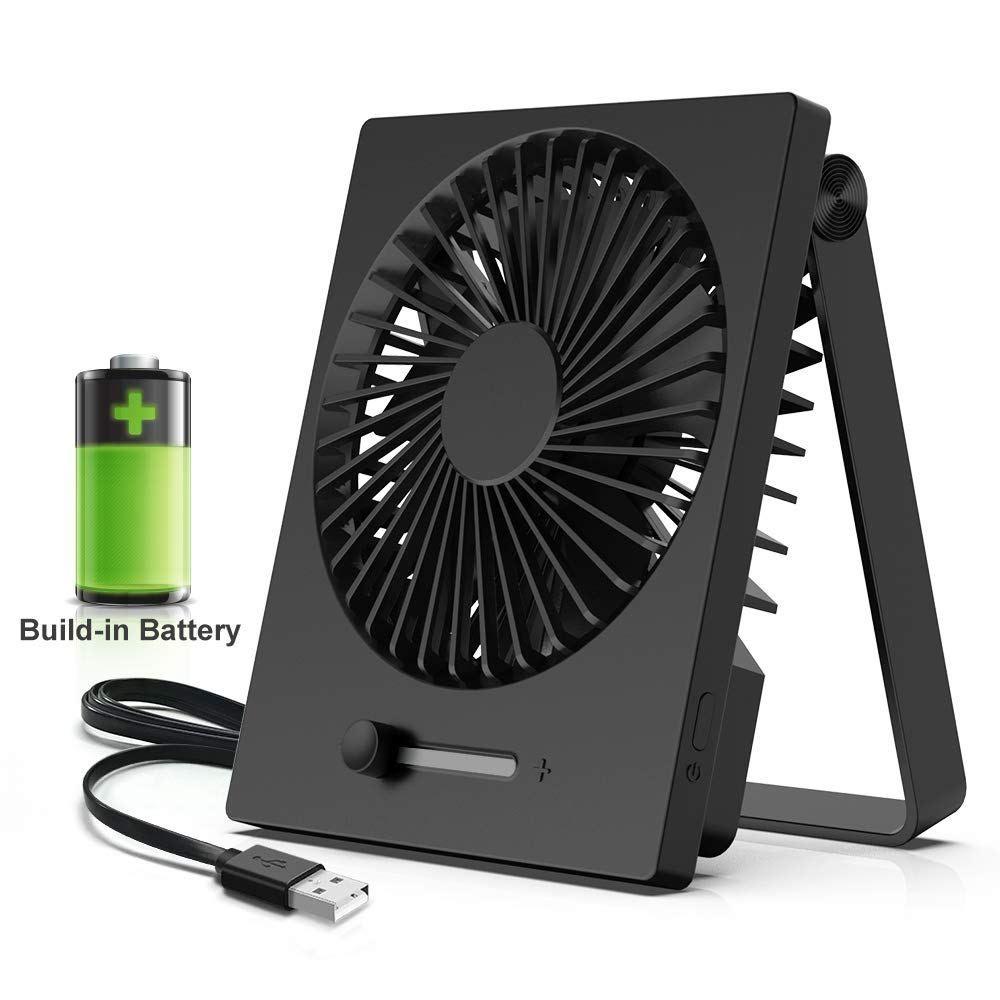 Kopbeau Battery Operated Fan Personal Desk Portable Usb
