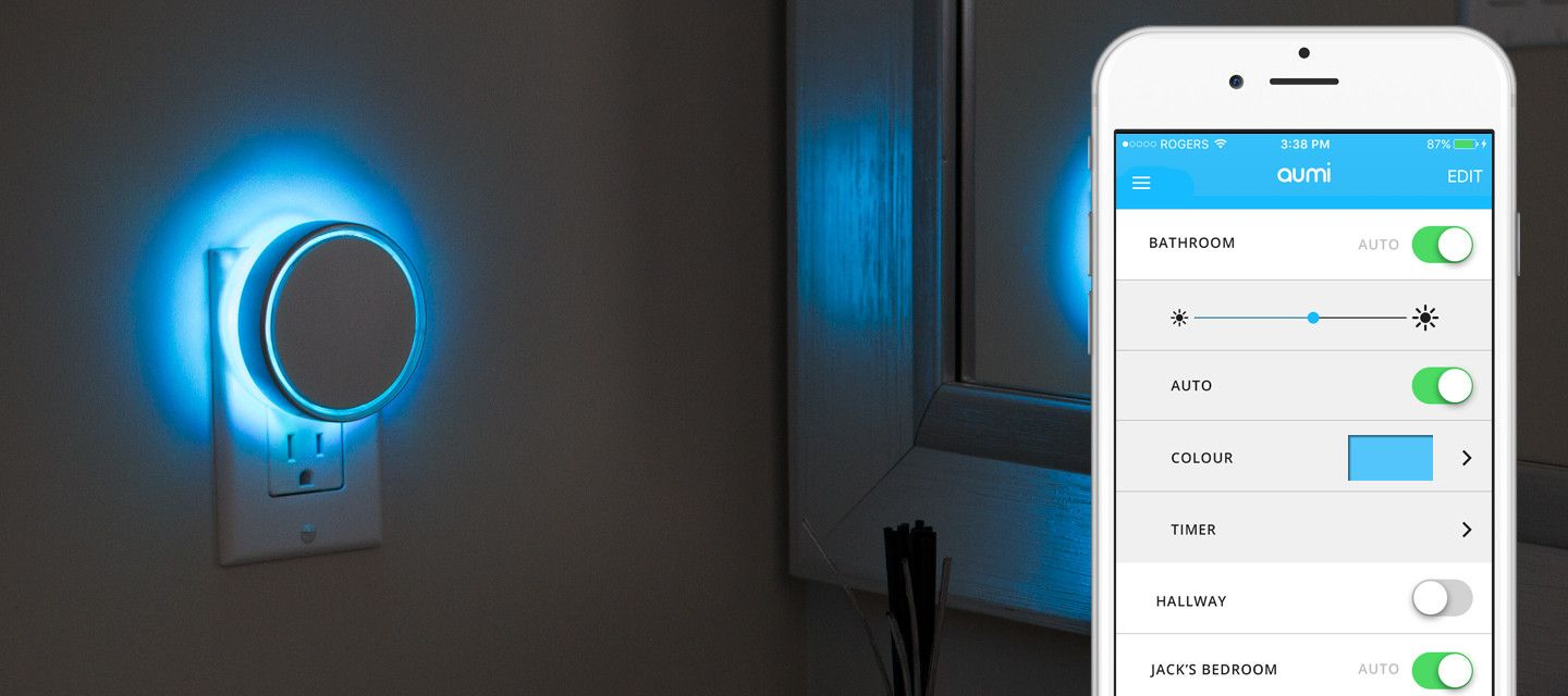 AUMI Night Light // Smart Night Light With Color Changing LED Lights.  Adjust The