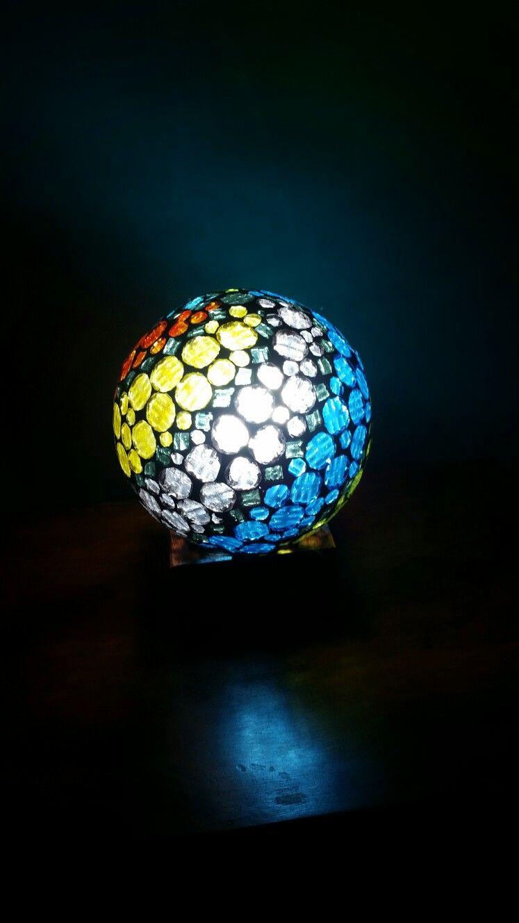 Lámpara  en venecitas