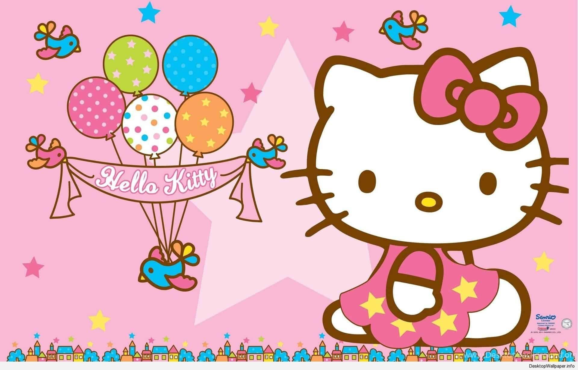 Happy Birthday Hello Kitty Wallpapers Top Free Happy Throughout Hello Kitty Tarpaulin Background For Birthday Di 2020 Ulang Tahun