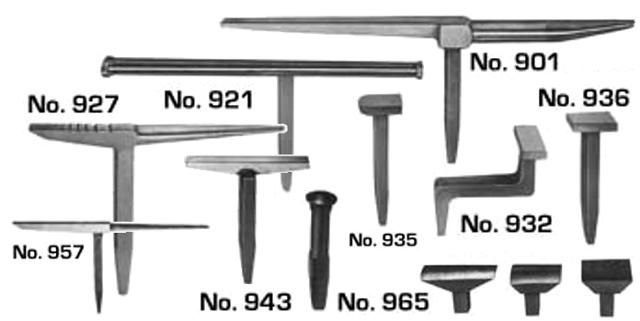 Pexto 900 Series Hand Forming Sheet Metal Working Stakes