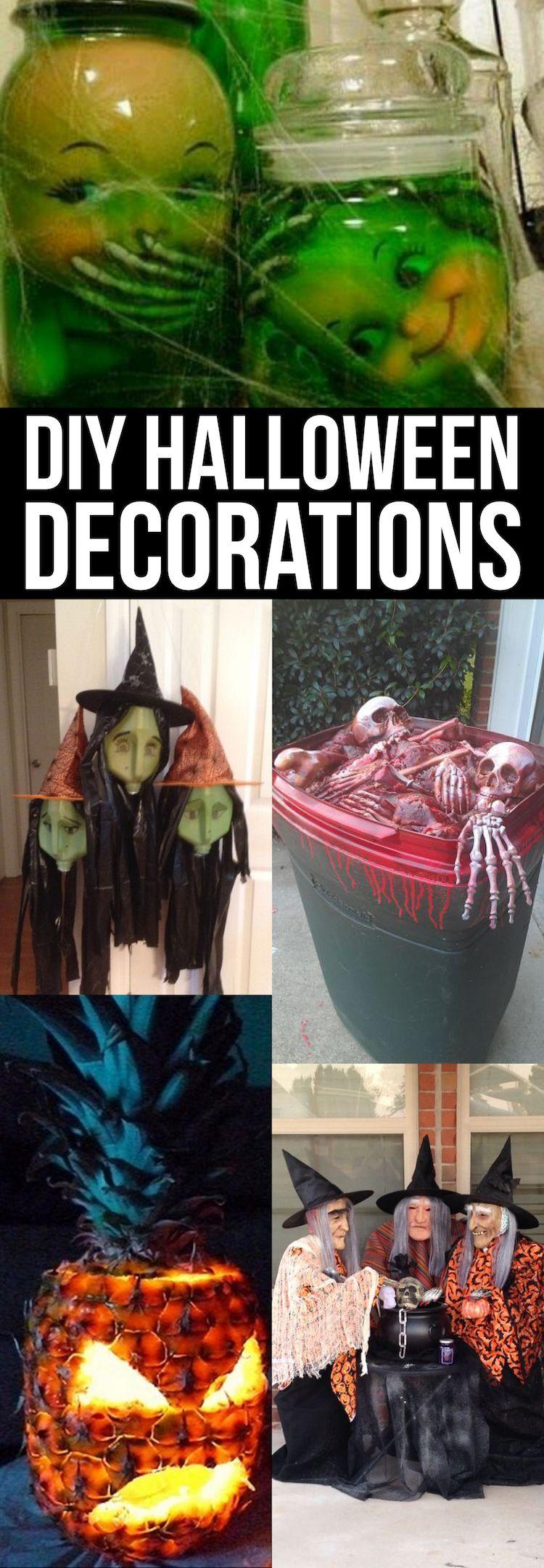 Diy halloween decor pinterest - The Best Diy Halloween Decorations