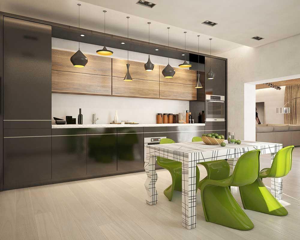 них стильный дизайн кухни фото находится такое