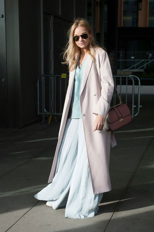 Long skirt and long coat