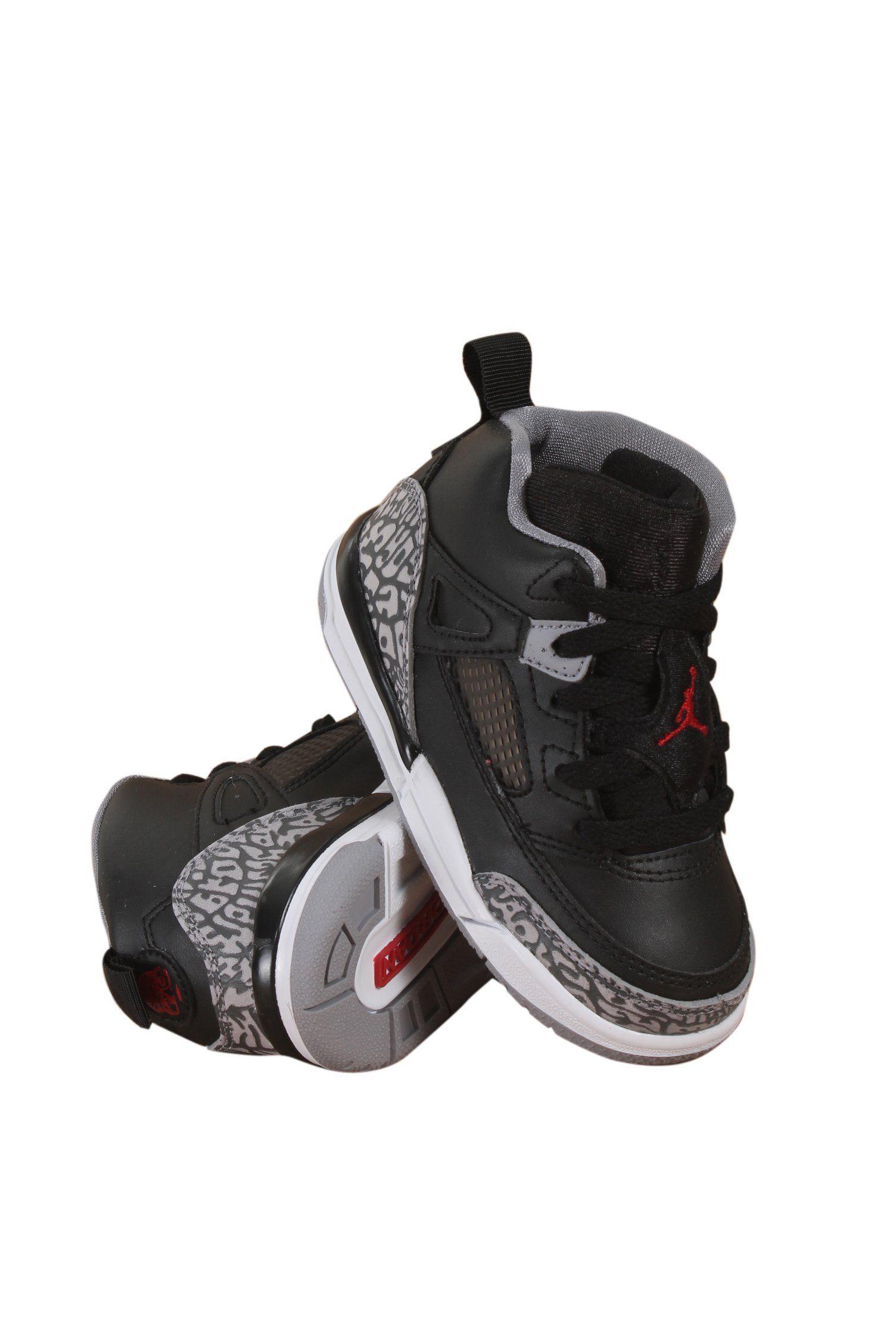 fe341927b28d Toddler Nike Air Jordan Spizike BT Black Cement Black White Red (8C ...