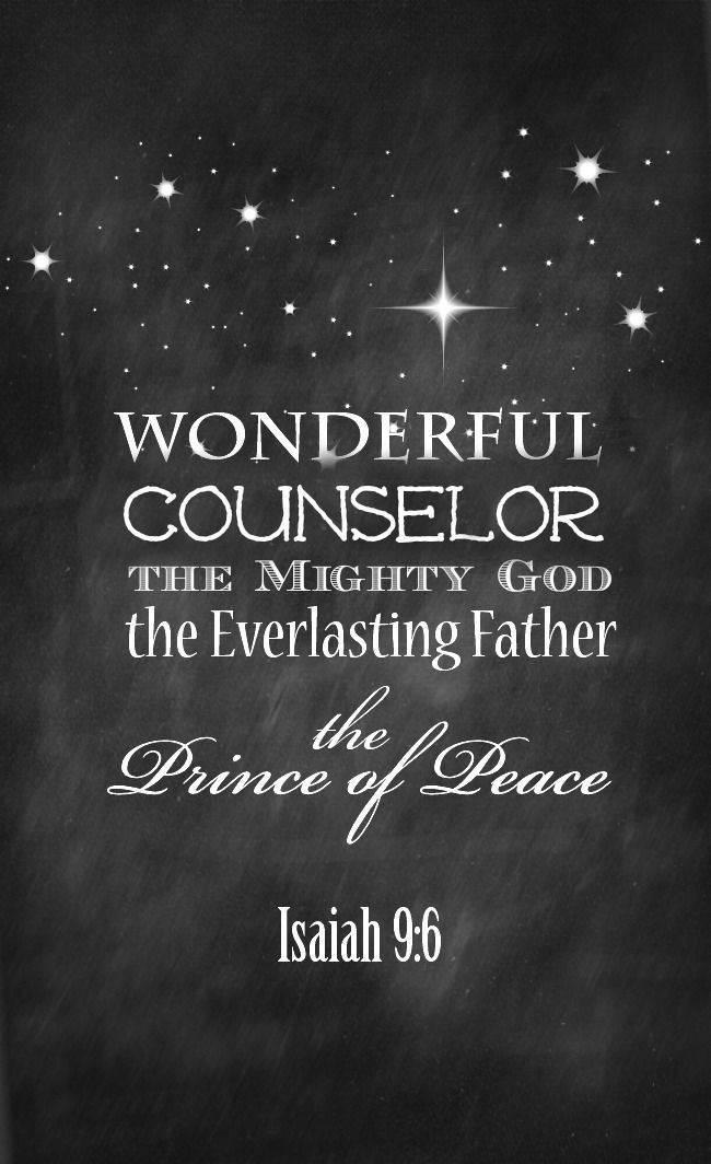 Isaiah 9 free christmas printable diy wall art art for Christmas inspirational quotes free