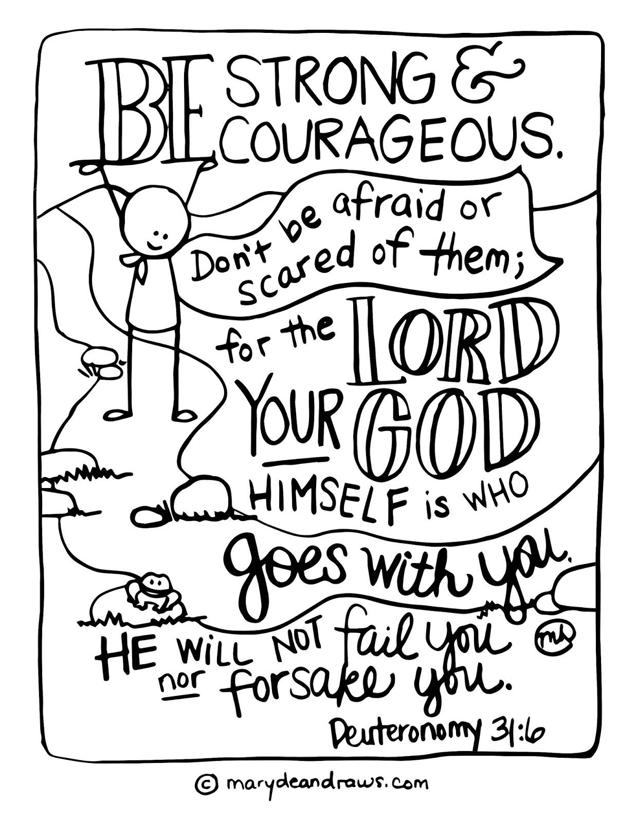 Free Scripture Doodles 2 Old Testament Quote Coloring Pages