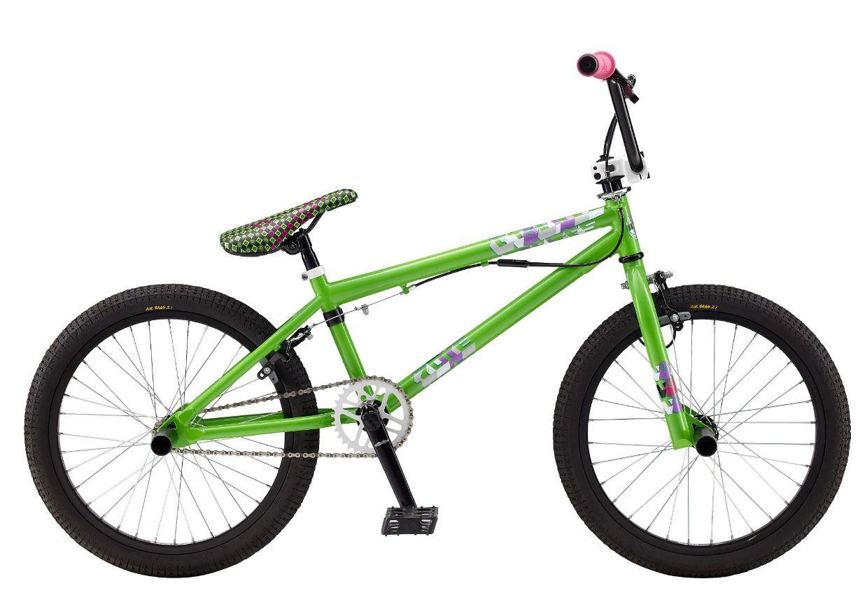 Gt Zone Bmx Bike Lime Green 20 Bmx Bikes Bicycle Warehouse Bike