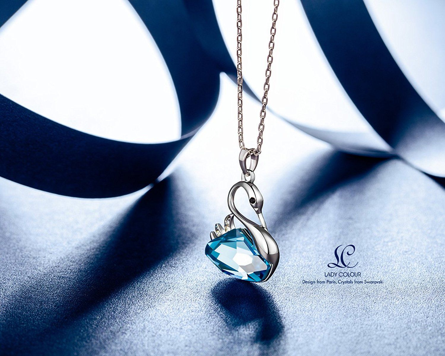 378ece8f1 LadyColour Swan Lake Blue Swan Pendant Necklace Made with Swarovski  Crystals >>> Learn more by visiting the image link. (This is an affiliate  link) # ...