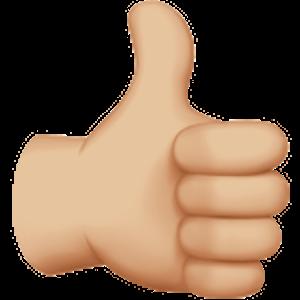 Thumbs Up Sign 2 Emojis Png Imagens