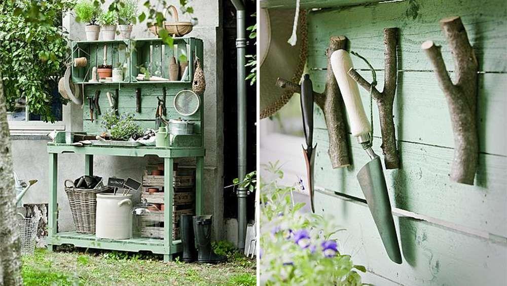 11 Garden Tool Racks You Can Easily Make | Pinterest | Tool rack ...