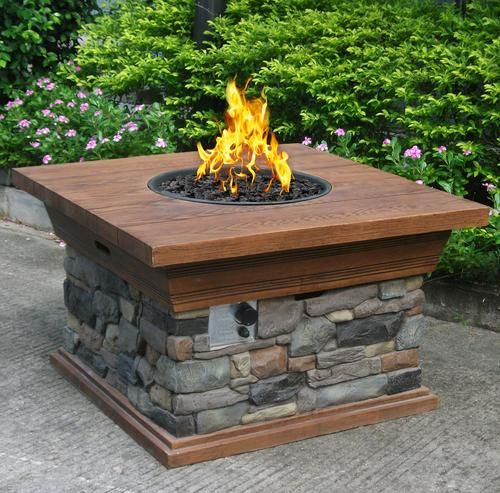 Backyard Creations Sedona 40 Fire Pit Table At Menards Propane Fire Pit Outdoor Propane Fire Pit Fire Pit