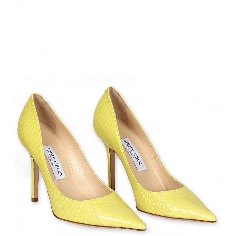 Jimmy Choo Lemon Yellow Leather Pointed Toe Pumps | Обувь ...