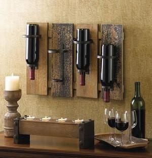 Rustic Wine Wall Rack   Rustic Home Decor   Pinterest   Wine wall ...