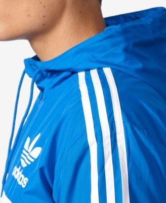 adidas Originals Men's Clfn Windbreaker Jacket Blue 2XL