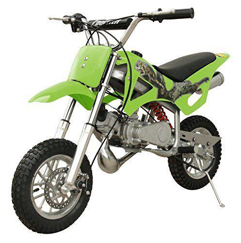 49cc 50cc 2 Stroke Gas Motorized Mini Dirt Pit Bike Green Dirt
