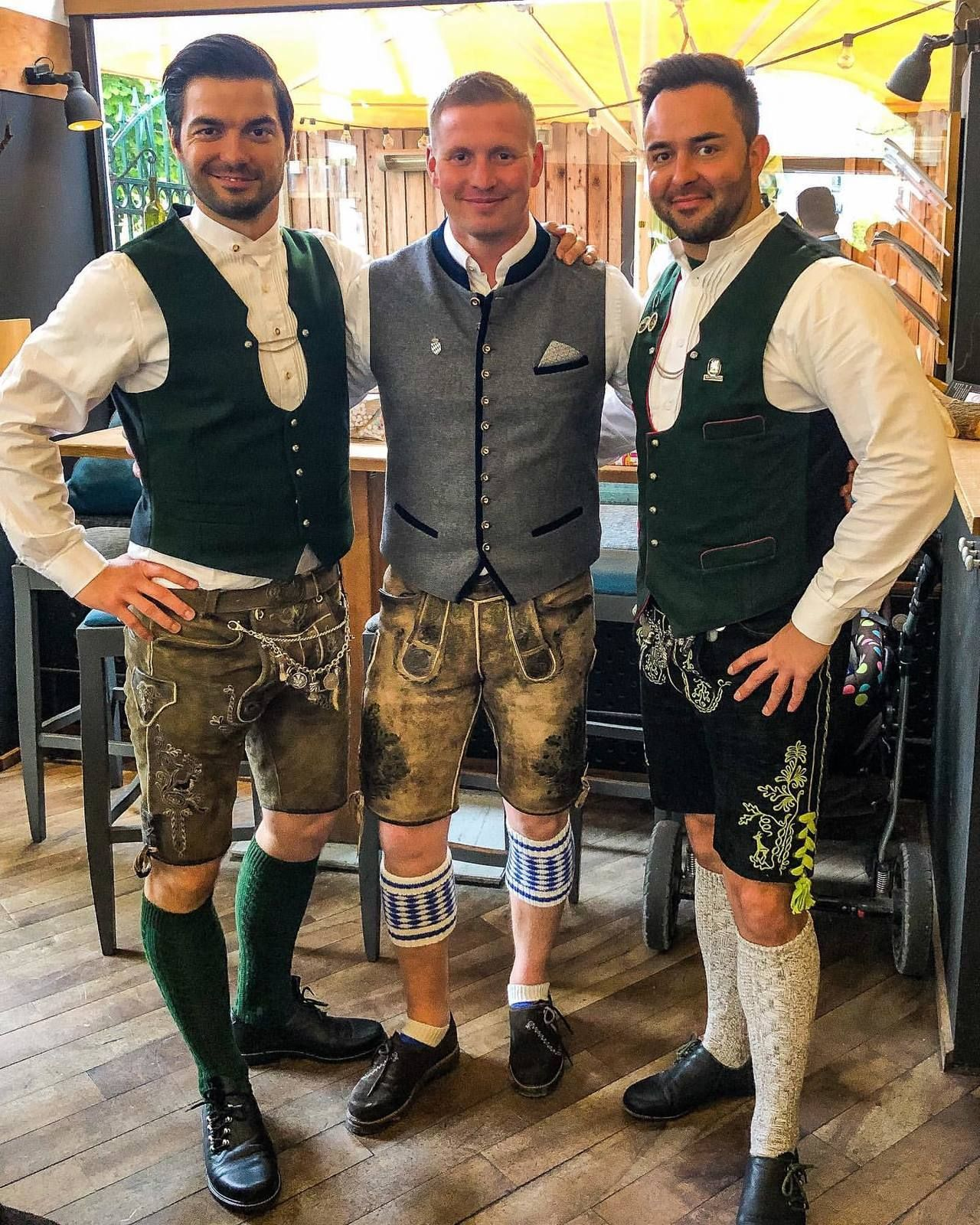 Pantalon cuir Trachtenhose Costume traditionnel costumes Oktoberfest Wiesn Wasn Messieurs Slogan Pantalons