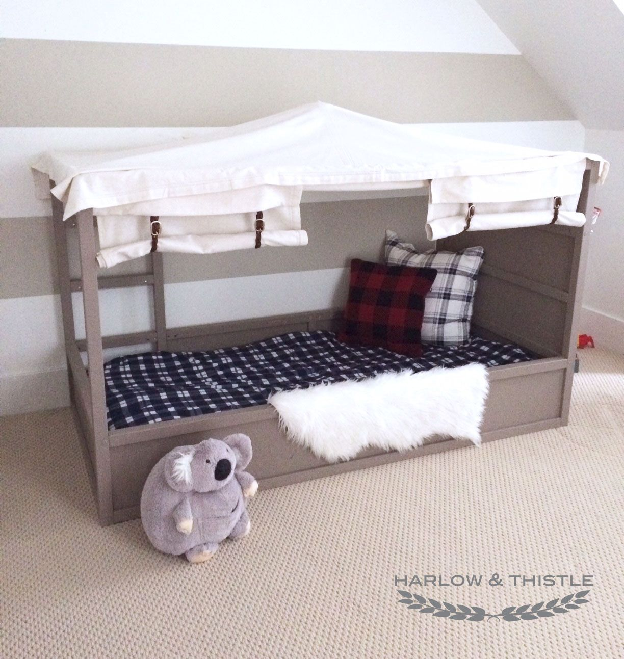 Harlow Thistle Home Design Lifestyle Diy Ikea Kura Bed Hack Diy Boy Canopy Bed Ikea Kura Bed Kura Bed Ikea Kura