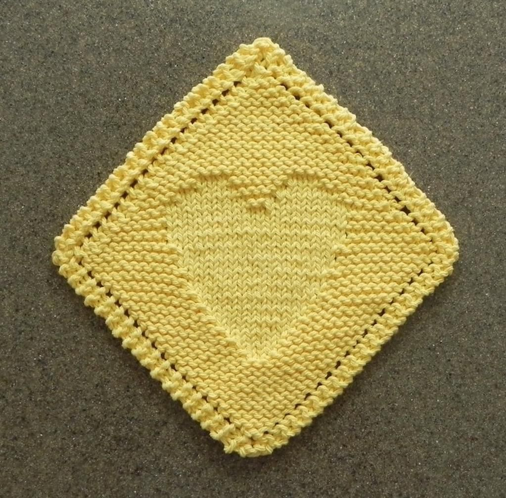 Heart diagonal dishcloth dishcloth aunt and dishcloth knitting heart diagonal dishcloth dishcloth knitting patternsknitted bankloansurffo Choice Image