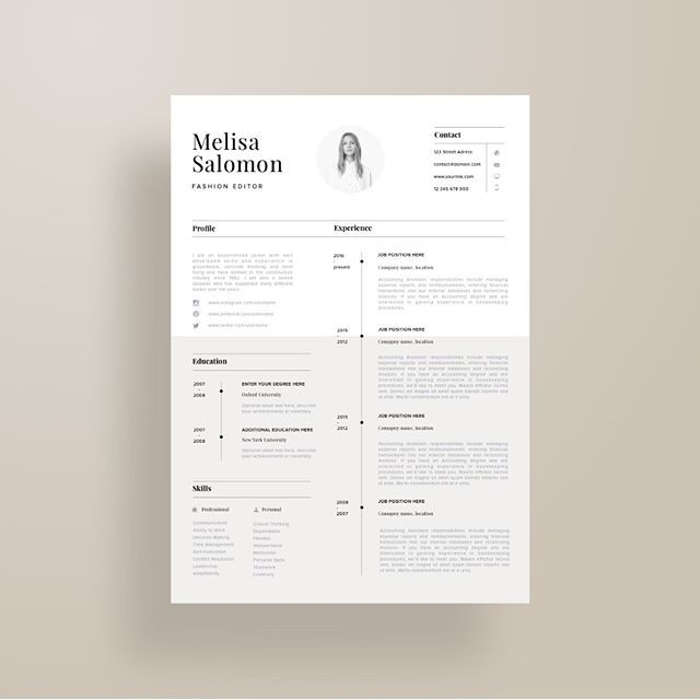 Professional Resume Template Creative And Professional Resume Template In Microsoft Wordcv
