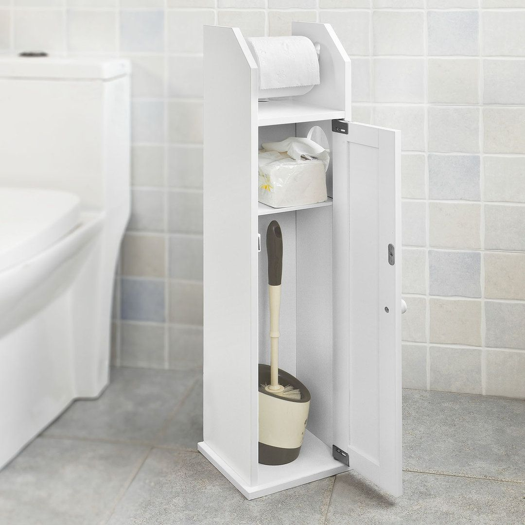 Sobuy Freistehend Weiss Toilettenrollenhalter Papier Halter Badregal Frg135 W Toilettenrollenhalter Toiletten Badezimmer Holz