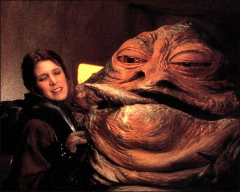 Jabba Leia Tongue Tail | guess I wouldn't have been able ... Jabba The Hutt And Leia