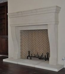 Stone Mantles in Texas Limestone